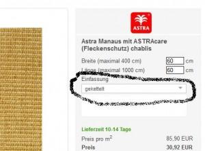 gekettelte Sisal-Teppiche online kaufen